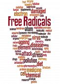 Free Radicals, Word Cloud Concept 6 poster