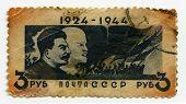 Постер, плакат: Ленина и Сталина