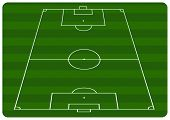 pic of football field  - Illustration of a football pitch with green stripes - JPG