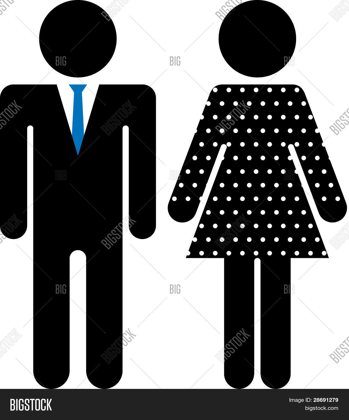 Restroom Symbol Male And Female To Zoom Vector Image
