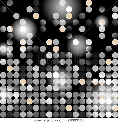 Glowing dots, vector