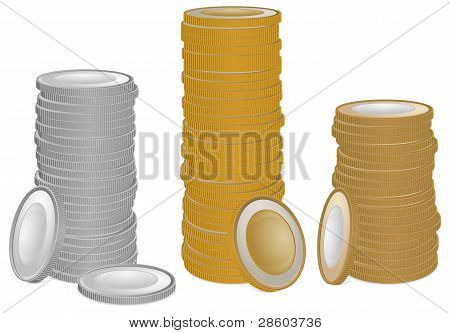 Gold And Silver Coins