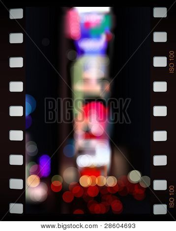Time Square city lights, vector illustration