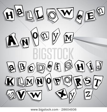 halloween anonymous alphabet
