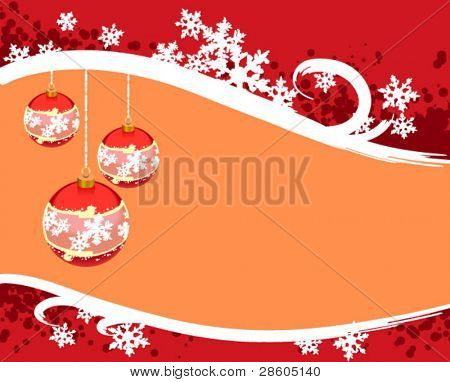 Christmas background with ball in stiletto grange