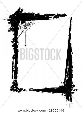 Black grange frame with a little spider