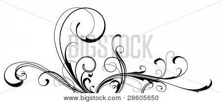 Black vector ornament