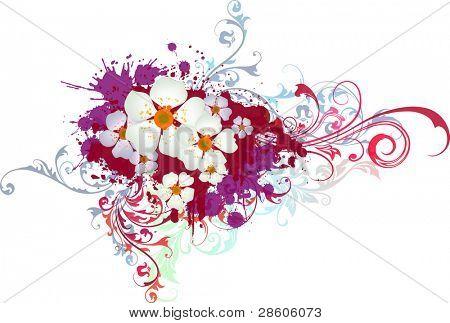 Grange vector flower composition