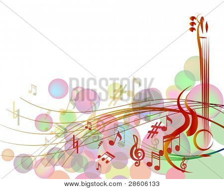 Vector musical background