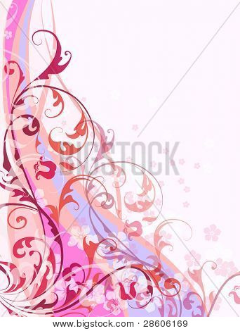 Abstract vector floral background