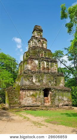 Tower Satmahal Prasada In Polonnaruwa