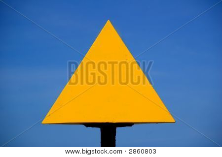 Yellow Sign Arrow