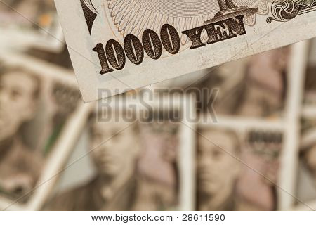 japanese yen bills. money from japan