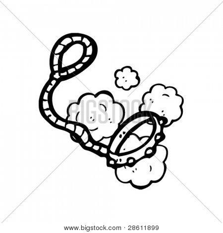 dog leash cartoon