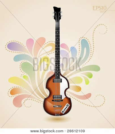 Viola electrical bass guitar from the sixties