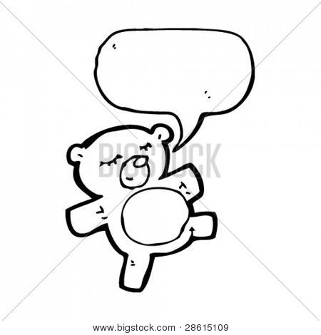 cute cartoon teddy bear with speech bubble