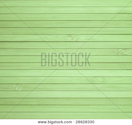 Background Made Of Horizontal Green Bamboo Laths.