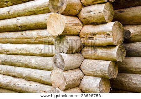 Wooden Balks Building Construction