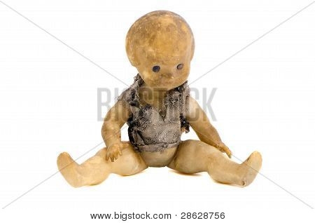 Isolated Grungy And Old Doll Hobo