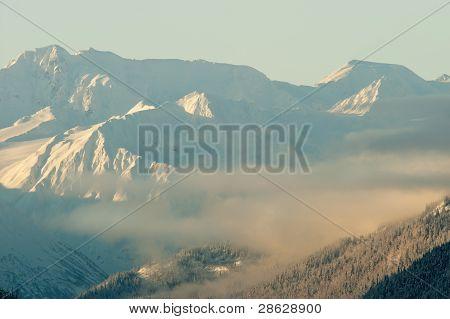 Sunset Mountains In  Alaska
