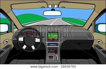 view of the driver