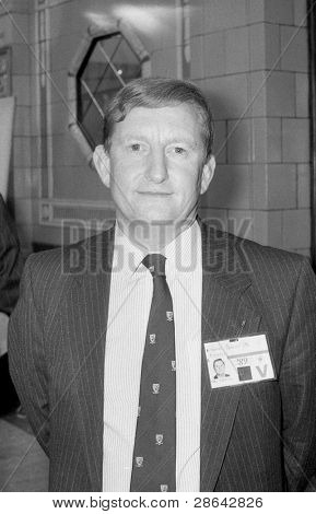 BLACKPOOL, ENGLAND - OCTOBER 10: Nicholas Bennett, Conservative party Member of Parliament for Pembrokeshire, attends the party conference on October 10, 1989 in Blackpool, Lancashire.