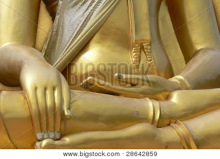 Hands of Buddha statue - lotus position