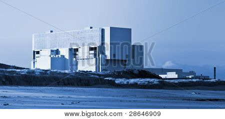 Blue Toned Image of Torness Nuclear Power Station