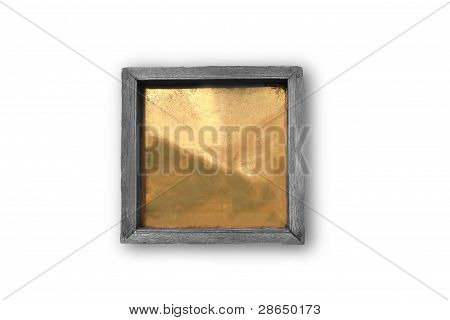Empty Or Blank Wooden Plaque On White Background