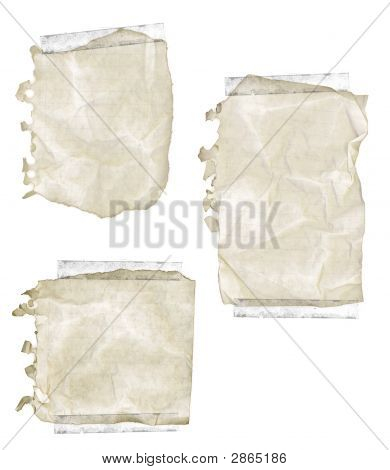 Ripped Old Notepad Paper With Tape