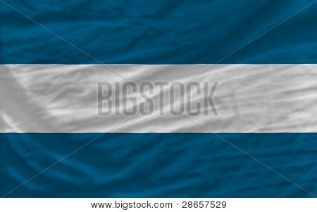 Complete Waved National Flag Of El Salvador For Background