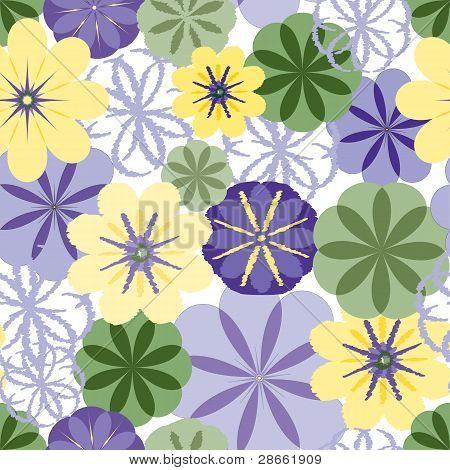 Seamless Textured Flower Wallpaper