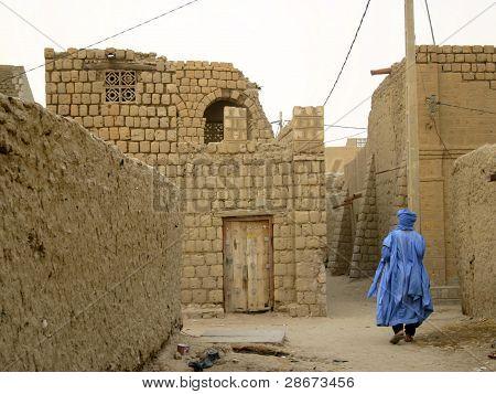 A Back Street in Timbuktu, Mali, Africa