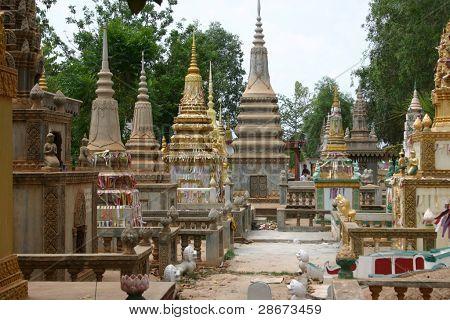Burial Stupas in Phnom Penh, Cambodia