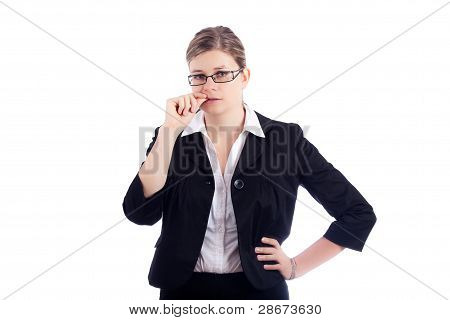 Nervous Business Woman