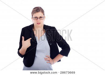 wütend beleidigt geschäftsfrau