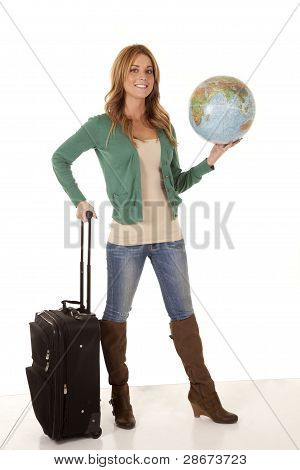 Hold Globe Travel