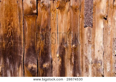 Old Abandoned Rural House Walls Made Of Boards