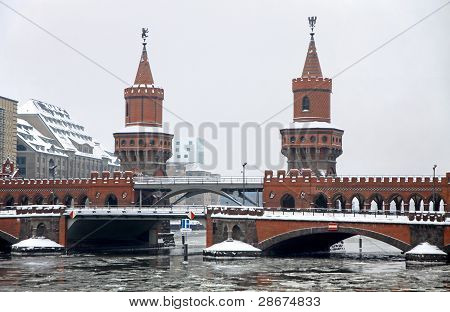 Oberbaum Bridge Across The Spree River In Berlin