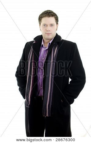 Portrait Of A Handsome Young Business Man. Isolated On White Background With Copy Space.