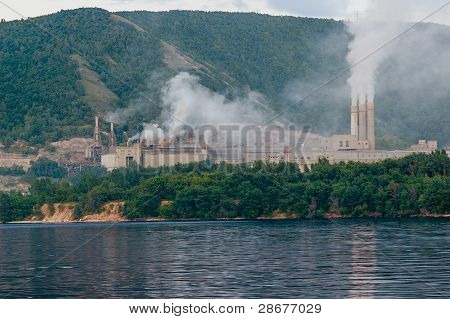 Smoking chimneys of the plant