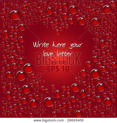 Bubbles auf roten Gradienten vermeiden Herz geformt Platz im Zentrum
