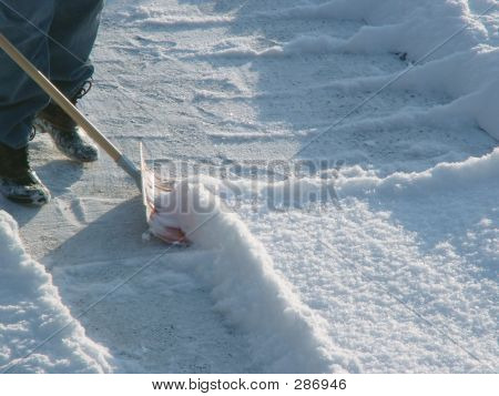 Winter  Shoveling Snow