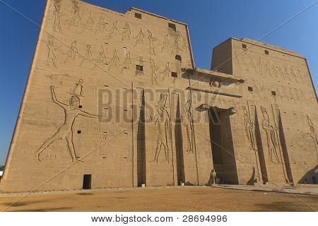 Temple of the god Horus Edfu Egypt)