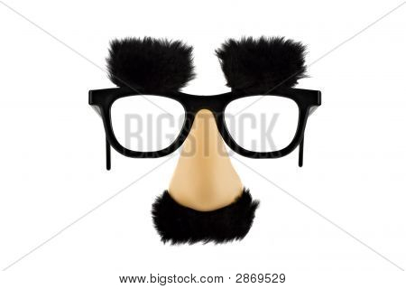 Fun Fake Mask Lisolated On White Background