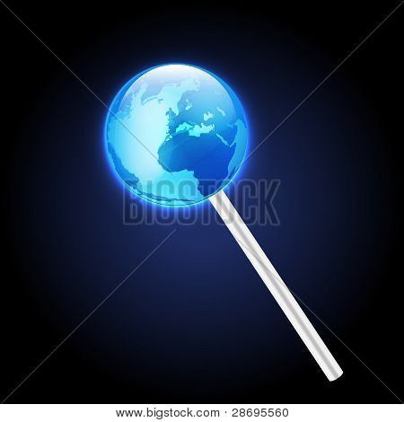 Lolipop of earth