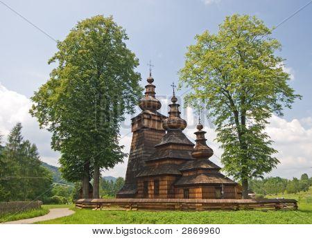 Wooden Orthodox Church In Poland