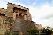 Coricancha Or The Temple Of The Sun Of The Incas With The Convent Of Santo Domingo Church Built Abov poster