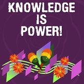 Handwriting Text Knowledge Is Power. Concept Meaning Knowing Is More Powerful Than Physical Strength poster