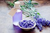 Aromatherapy Oil And Lavender, Lavender Spa, Wellness With Lavender, Lavender Scented Stones Lavende poster